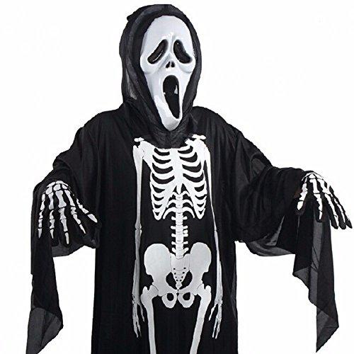 Belleshine Halloween Skull Skeleton Ghost Screaming Mask Masquerade Costume Props (Adult Halloween Custome)