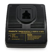 POWERAXIS Replacement Dewalt DE9116 7.2-18V Ni-CD,Ni-MH Universal Charger