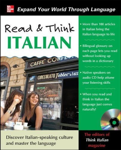 Read and Think Italian with Audio CD (Read & Think) by The Editors of Think Italian! Magazine (2011-07-01)