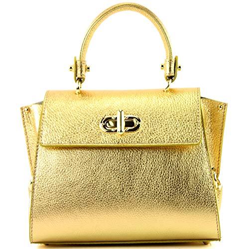 Cuir Italien De Femme T182 tout Fourre Modamoda metallic Gold Petit Pour q4FwIx8