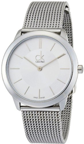 Jacob Time K3M22126 Calvin Klein CK Minimal Mesh Mens Watch - Silver Dial