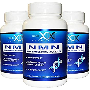 Image of Health and Household NMN Stabilized Form Supplement 250mg Serving 3Pack Nicotinamide Mononucleotide to Boost NAD+ Levels for DNA Repair Works Best When Paired with Resveratrol (2X 125mg caps 60 ct per Bottle)