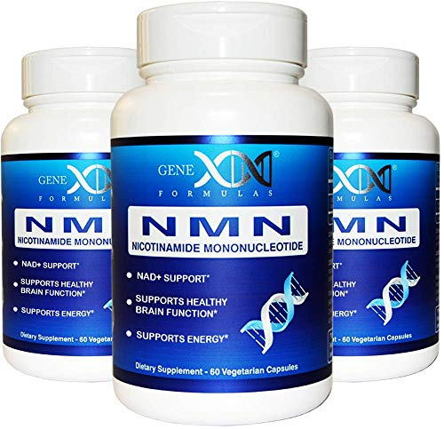 NMN Supplement 250mg Serving 3Pack Nicotinamide Mononucleotide to Boost NAD Levels for DNA Repair 2X 125mg caps 60 ct per Bottle