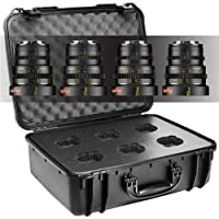 Veydra V1-4LENSKITCASESONYEM Mini Prime 4 Lens Kit with Manual Focus, Black