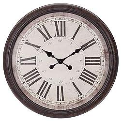 30 Antique Bronze Baldaud Roman Numeral Wall Clock