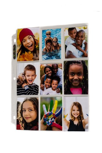 Ultra Pro 3-Hole Photo Page for 2.5 by 3.5-Inch Prints, 10-Pack