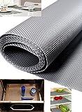 Homies 1 Piece Useful And Multipurpose Full Length 5 Meter (45 X 500) Anti Slip Grip, Non Slip Liner, Skid Resistant Mat, Material Pvc. Color: Gray