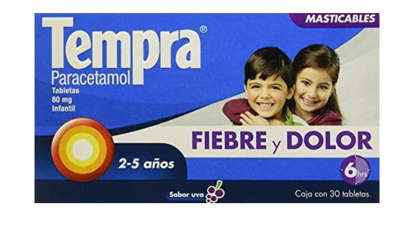 Amazon.com: Tempra Chewable Tablets Flavor Grape 80 mg 30 Pieces: Health & Personal Care