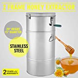 FinbFbay Honey Extractor Manual Honey Extractor Honeycomb Spinner 2 Frame Stainless Steel Manual Beekeeping Supply Beehive Processing (2 Frame)