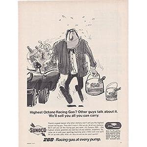 1971 Vintage Magazine Advertisement Sunoco 260 The Highest Octane Gasoline