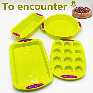 IDEA Molde de silicona para tartas, forma redonda cuadrada, bandeja para tostadas, moldes