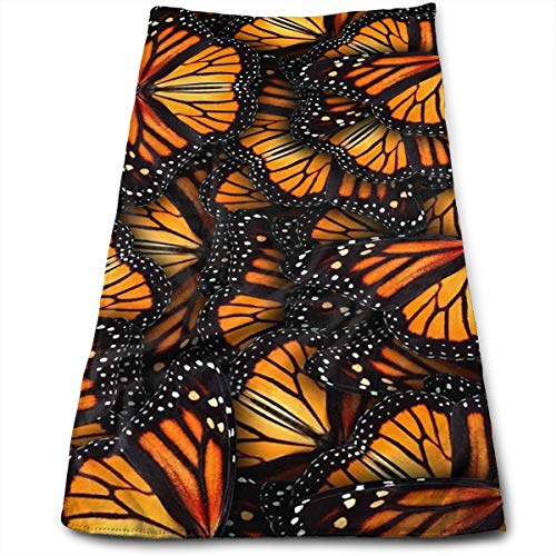 (Heaps of Orange Monarch Butterflies Cool Towel Beach Towel Instant Cool Ice Towel Gym Quick Dry Towel Microfibre Towel Cooling Sports Towel for Golf Swimming Yago Football Beach Garden Holiday)