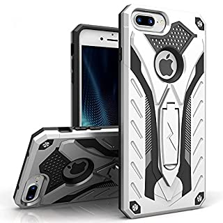 ZIZO Static Series for iPhone 8 Plus Case Military Grade Drop Tested with Kickstand iPhone 7 Plus iPhone 6s Plus Case Silver Black