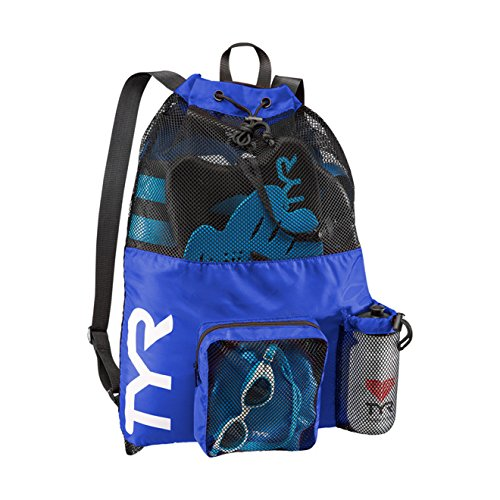 TYR Big Mesh Mummy Backpack, Royal, - Bag Swim
