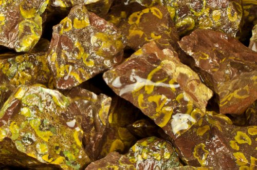 (Fantasia Materials: 2 lbs Leopard Jasper AA Grade Rough - (Select 1 to 18 lbs) - Raw Natural Crystals for Cabbing, Cutting, Lapidary, Tumbling, Polishing, Wire Wrapping, Wicca & Reiki Healing)