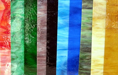 "8""x4"" Variety Pack Stained Glass Sheets (8 pieces)"