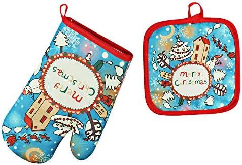 BaZhaHei Navidad Hornos navideños Guantes anti-calor Horno ...