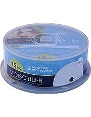 MILLENNIATA BD-R M-DISC 15-delig printable casebox 25GB/1-4x opslag 1.000 jaar