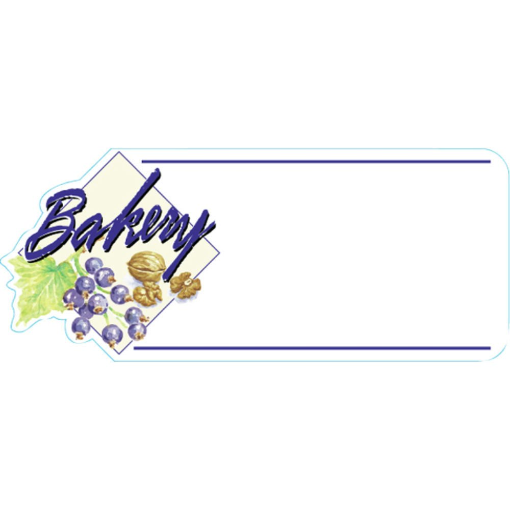 Bakery Tag White Heat Resistant Merchandising Tag - 4 3/4 L x 2'' H, 12/Bag