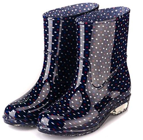 Alte Rain Festival Fashion Rubber Pioggia Donna Taglie Stivali Scarpe da Impermeabili Wellies Antiscivolo EU39 Snow da Wellington Ladies C Fango xX0XqZY