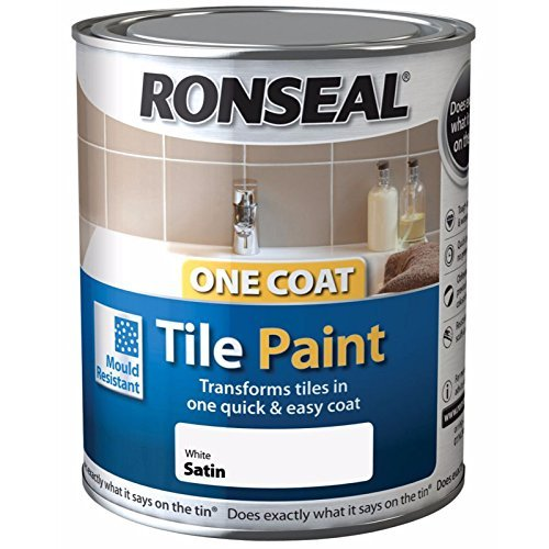 Ronseal One Coat Tile Paint - Brilliant White - 750ml 35044