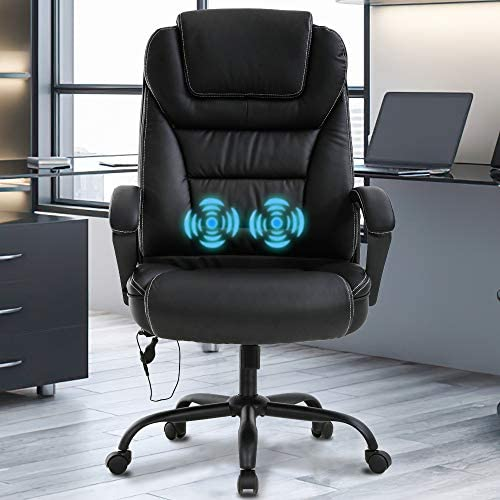 Big Tall Home Office Chair Desk Chair Executive Chair 500LBS Ergonomic High Back Leather Computer Chair
