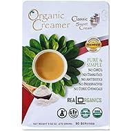 "Realorganics ""PURE & SIMPLE"" - Powdered, Coffee Creamer / 100% Certified Organic / rBST Free / GMO Free / Gluten Free / Chemical, Additive & Preservative Free… CLASSIC SWEET CREAM"