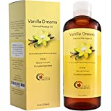 Vanilla Edible Massage Therapist Oil for Couples - All Natural Jojoba Sweet Almond & Coconut Oil for Skin Blend - Sensual Massage Body Oil for Skin So Soft - Dry Skin Moisturizer for Back Pain Relief
