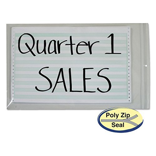 C-Line 47014 - Poly Zip Shop Ticket Holders, 13 x 16 3/4, 50/Box by (Zip Shop Ticket Holders)