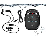 【2018 NEW VERSION】 HIFI sound waterproof MP3 music player for swimming and running,underwater headphones with short cord(3 types earbuds), Shuffle feature