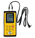 Digital Ultrasonic Thickness Meter with Corrosion Probe,Range 0.039'' – 11.811'' / 1.00 – 300.0 mm,Inch/Mm Units AR860(Steel)