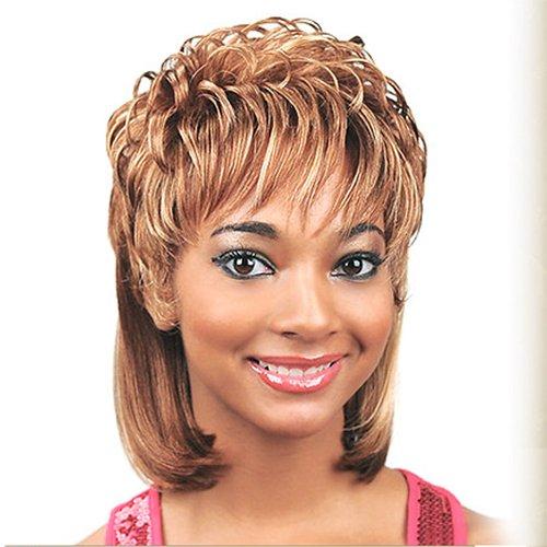 JUNEE FASHION Synthetic Wig - FANTASIA (#1B - Off Black)