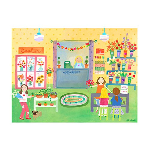 Oopsy Daisy Flower Shop Stretched Canvas Art, 24'' x 18'' by Oopsy Daisy