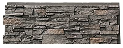 NextStone Country Ledgestone Faux Polyurethane Stone Panel - Appalachian Gray - 4 Pack
