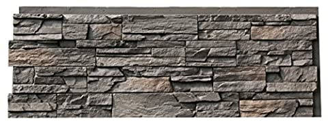 NextStone Country Ledgestone Faux Polyurethane Stone Panel - Appalachian Gray - 4 Pack - Faux Stone Siding
