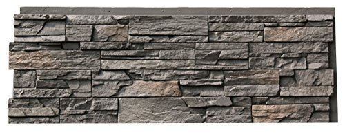 Thin Veneer Stone - NextStone Country Ledgestone Faux Polyurethane Stone Panel - Appalachian Gray - 4 Pack