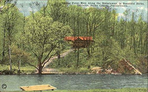 Spring Forge Dam Earlville, Pennsylvania Original Vintage Postcard ()