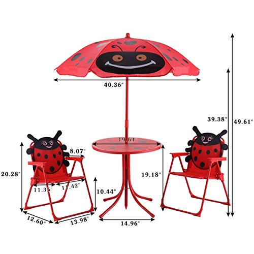 Donu0027t Miss This Deal At Amazon Today On The Cotzon Kids Patio Set, Ladybug  Table And Chair With Umbrella For Outdoor Garden For Only $35.99!