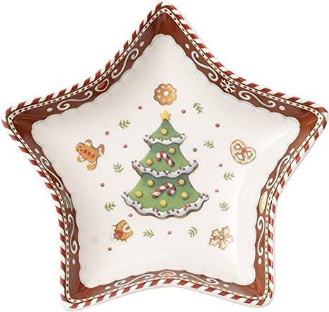 Villeroy & Boch Winter Bakery Delight Coppa a Stella Piccolo Albero, Porcellana, Bianco/Rosso, 13x0.1x0.1 cm, 1486123275