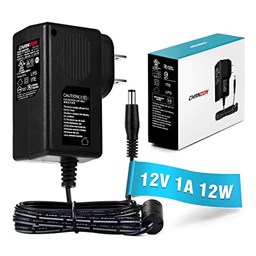 [UL Listed] Chanzon 12V 1A 12W AC DC Switching Power Supply Adapter (Input 100-240V, Output 12 Volt 1 Amp) Wall Wart Transformer Charger for DC12V Security CCTV Camera (6Ft Cord, 12 Watt Max) ()