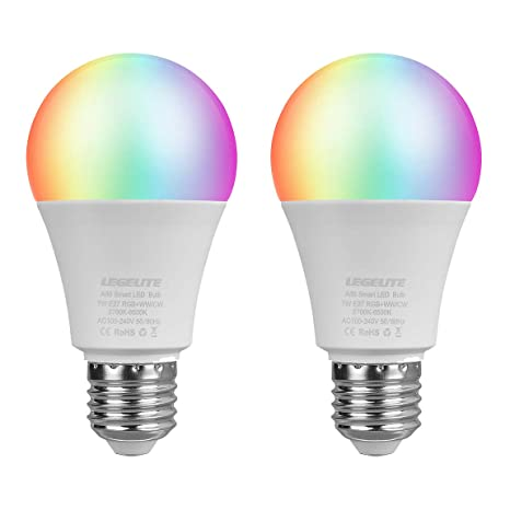 Bombilla LED Smart E27, de LEGELITE; WiFi, 2700 K a 6000 K,