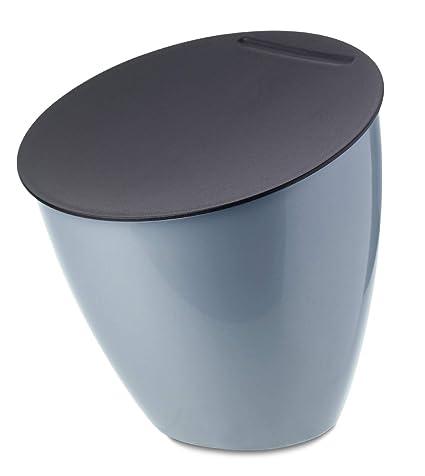 Rosti Mepal 108550013800 Papelera de Mesa Calypso, plástico, Nordic Blue, 17,5 x 17,5 x 18,4 cm