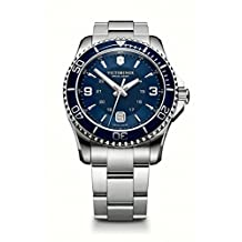 Victorinox Swiss Army Men's 241602 Maverick Stainless Steel Bracelet Watch with Blue Dial