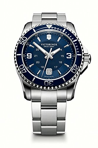 Victorinox Swiss Army Men's 241602 Maverick Watch with Blue Dial and Stainless Steel Bracelet (Watch Crystal Sapphire)