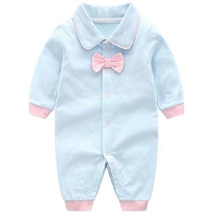 Recién nacido Bebé Mameluco Algodón Pelele Pijama Manga Larga Trajes de caballero 0-3 Meses