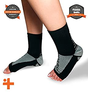 Fast Relief from Plantar Fasciitis | Swelling | Foot Pain & Promotes Blood Circulation | Open Toed Compression Sleeve Sock Health Is Wealth by CXCraft