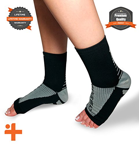 Plantar Fasciitis Relief Compression Socks: Health Is Wealth Anti Fatigue Medical Sock Sleeve for Men and Women Improves Blood Circulation, Provides Relief for Swelling, Cramps