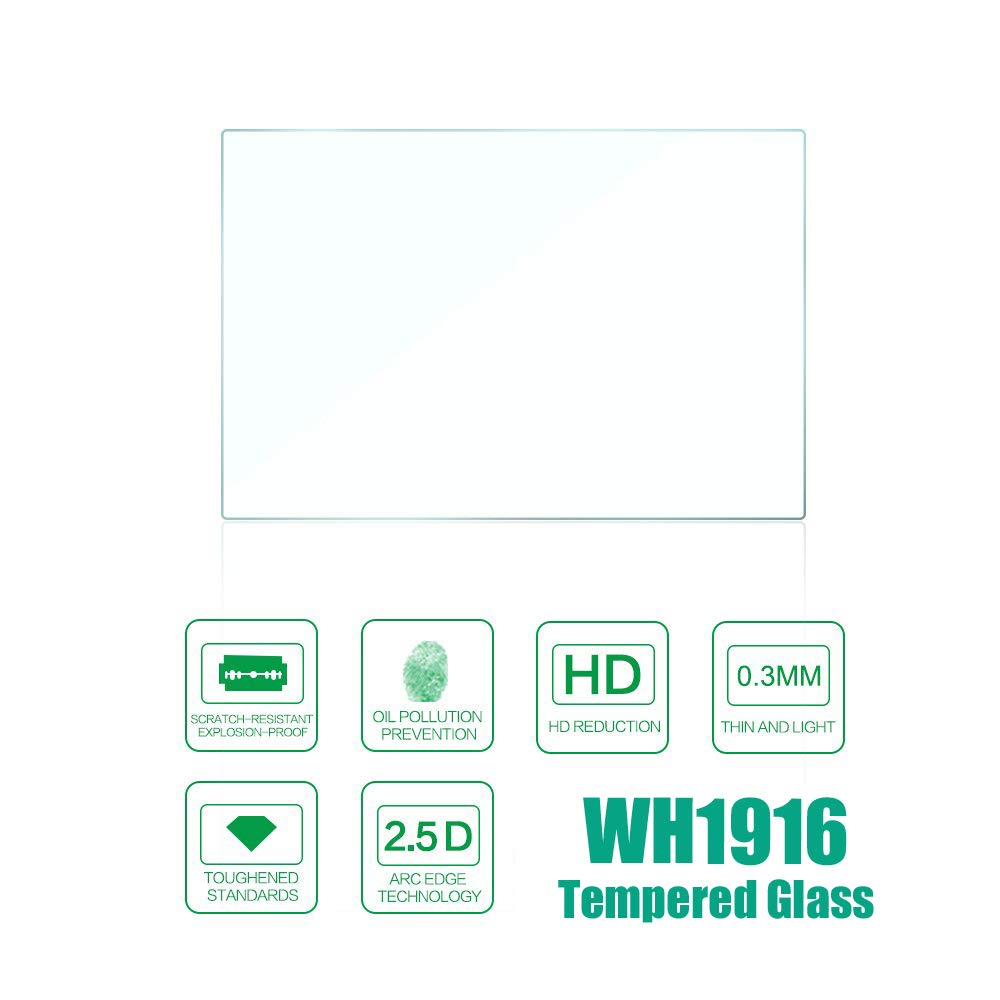 WH1916 Glass Screen Protector Foils Compatible for Canon EOS Rebel SL3 250D 200DII,Tempered Glass Film Bubble-Free Anti-Scratch for Canon sl3 Digital Camera 2 Pack