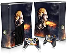 Xbox 360 Slim Skin Sticker Full Body Wrap Plus Two Matching Controller Skins Protects From Scratches Vinyl Decal Dragon Man Blowing Fire by JoJoFrog