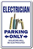 Electrician Novelty Sign | Indoor/Outdoor | Funny Home Décor for Garages, Living Rooms, Bedroom, Offices | SignMission Electric Gift Gag Funny Electrical Power Sign Wall Plaque Decoration